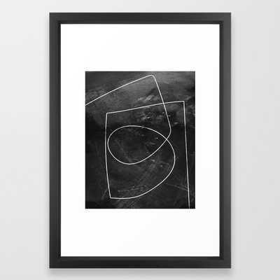Minimal 9 Framed Art Print by Dan Hobday Art- vector black 15x21 - Society6