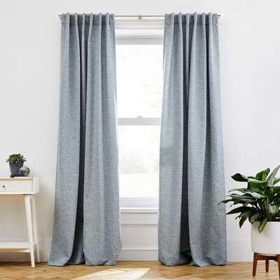 "Dash Jacquard Curtain, Stormy Blue, 48""x84"" - West Elm"