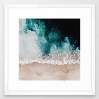 "Ocean (Drone Photography) Framed Art Print 22"" x 22"" - Society6"