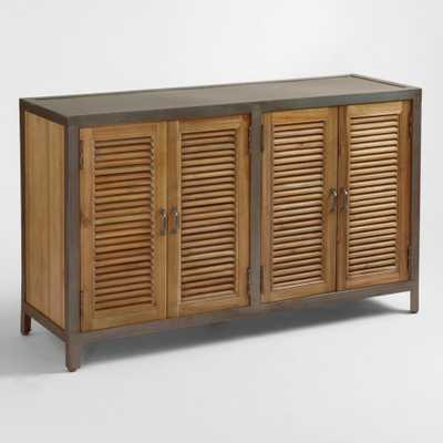Double Shutter Doors Holbrook Sideboard: Brown - Wood by World Market - World Market/Cost Plus