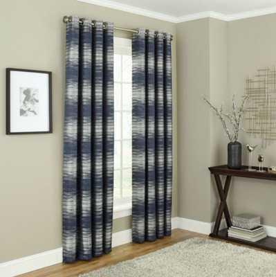 Payson 84-Inch Grommet 100% Blackout Window Curtain Panel in Indigo - Bed Bath & Beyond