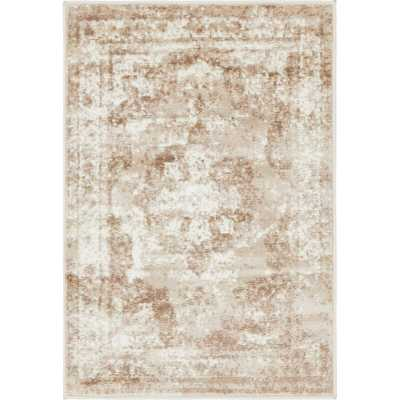 Brandt Oriental Brown Area Rug - 4' x 6' - Wayfair