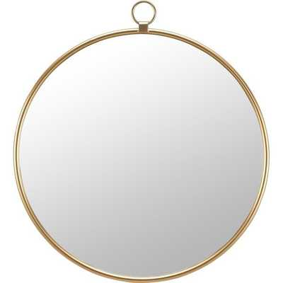 Everly Quinn & Co.® Marshall Gold Round Mirror - Wayfair