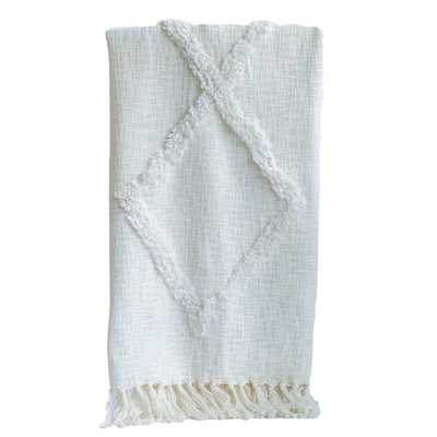 uena Vista Tufted Cotton Throw - Wayfair