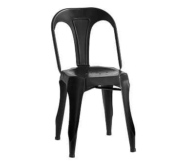 Aaron Metal Play Chair, Black, Standard UPS Delivery - Pottery Barn Kids