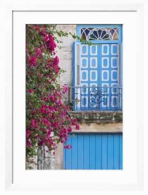 Cuba, Havana. Bougainvillea blooms in Old Town. - art.com