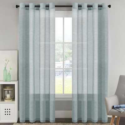 Avia Luxury Solid Color Sheer Grommet Curtain Panels (Set of 2) - Wayfair