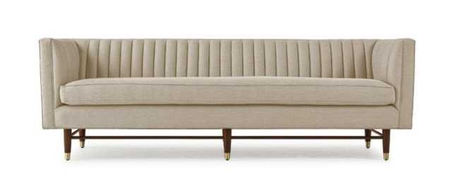 Beige Chelsea Mid Century Modern Sofa - Nova Sunflower - Medium - Joybird