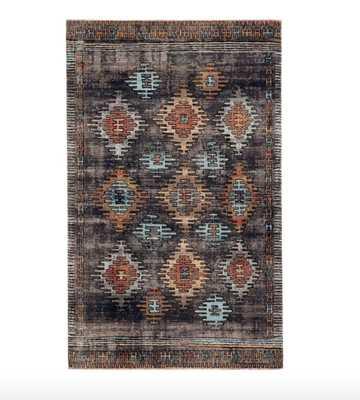 """Vanburen Tribal Blue/Orange/Black Indoor/Outdoor Area Rug - 8' 10"""" x 12' - Wayfair"""