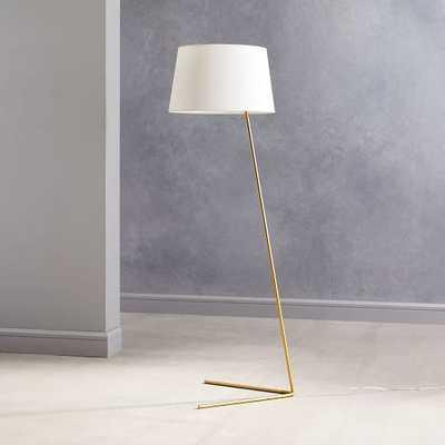 Angled Outline Floor Lamp, Antique Brass - West Elm