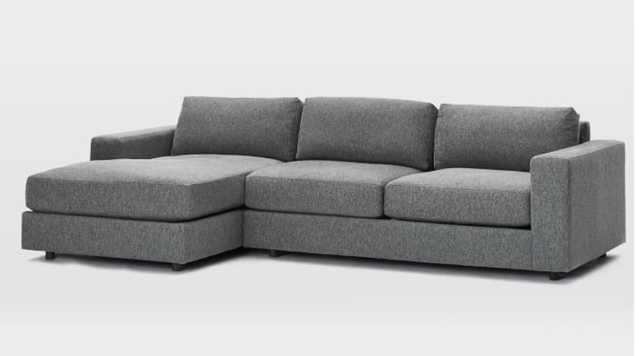 Urban Sectional Left 2-Piece Chaise Sectional - West Elm