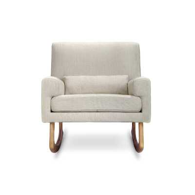 Nursery works Sleepytime Rocking Chair Frame Color: Light, Upholstery Color: Oatmeal - Perigold