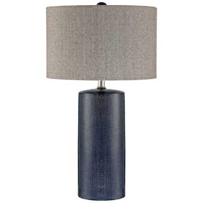 Lite Source Jacoby Navy Blue Ceramic Table Lamp - Style # 33T79 - Lamps Plus