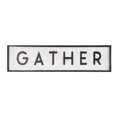 Gather Wooden Wall Family Sign - Wayfair