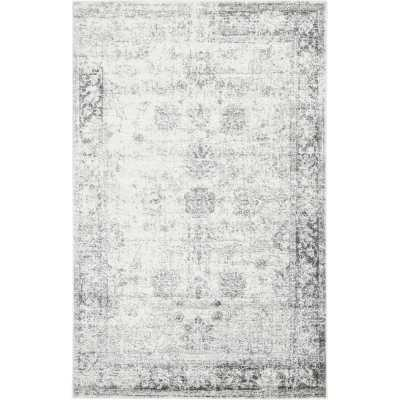 Brandt Floral Gray Area Rug - Wayfair