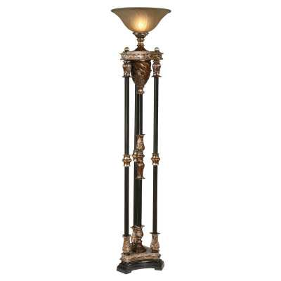 """Hillam 71"""" Torchiere Floor Lamp - Wayfair"""