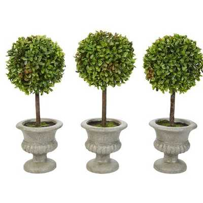 Artificial Ball Boxwood Topiary in Urn - Wayfair