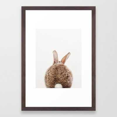 Bunny Tail, Bunny Rabbit, Baby Animals Art Print By Synplus Framed Art Print - 15x21 - Conservation walnut - Society6