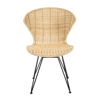 Meier Rattan Upholstered Dining Chair - Wayfair