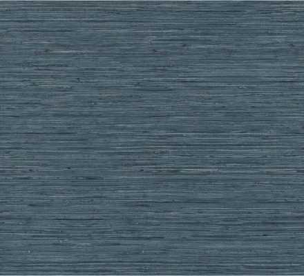 RoomMates Grasscloth Blue Vinyl Peelable Wallpaper - Home Depot