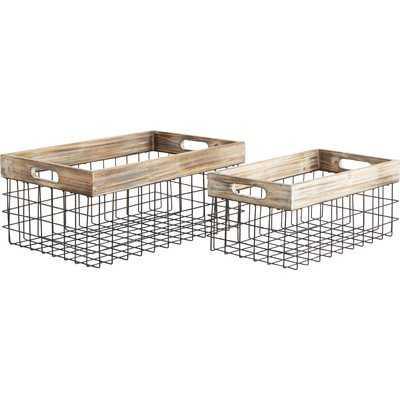 Nome 2-Piece Iron Basket Set - Wayfair