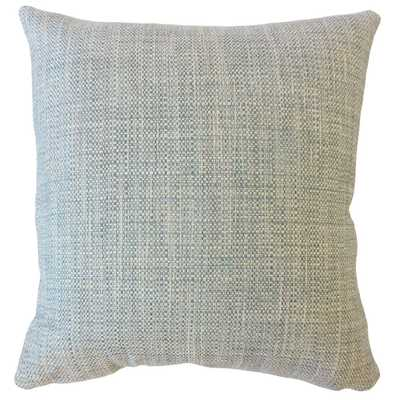"Textured Linen Pillow, Bluestone, 20"" x 20"" - Havenly Essentials"