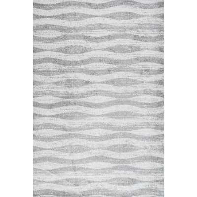 Mercado Abstract Gray/White Area Rug - AllModern