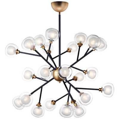 "ET2 Pod 40"" Wide Black and Gold 24-Light LED Pendant Light - Lamps Plus"