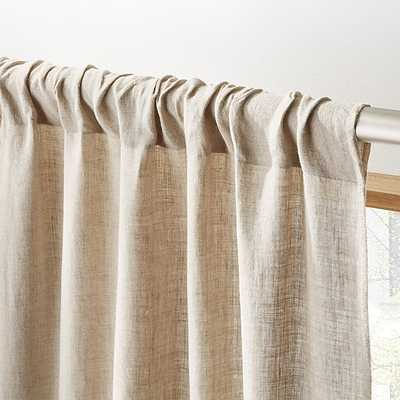 "Natural linen curtain panel 48""x96"" - CB2"