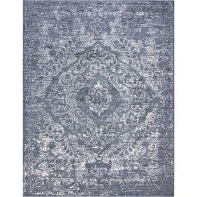 Kellen Blue Area Rug - Rectangle 9' x 12' - Wayfair