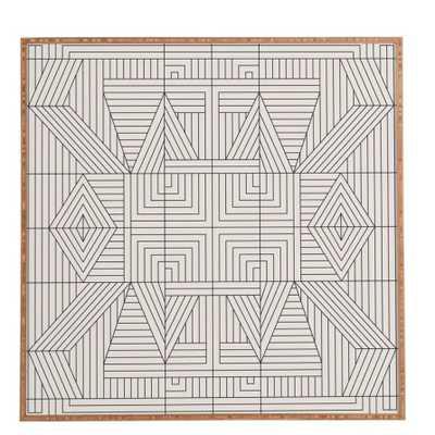 """Line Mandala Framed Graphic Art - 30""""x30"""" - AllModern"""