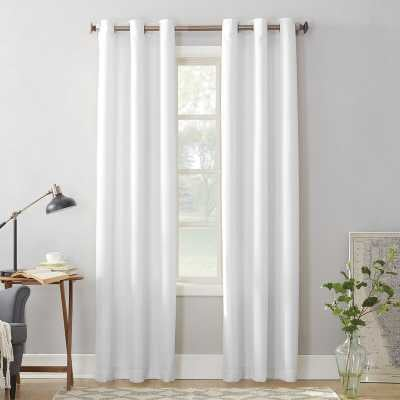 Traditional Bedroom Design Shop the Look by Alcott Hill in Alcott Hill Beulah Solid Semi-Sheer Grommet Single Curtain Panel - Wayfair
