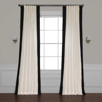 "Winsor Cotton Solid Light Filtering Rod Pocket Single Curtain Panel in Black - 50""x96"" - AllModern"