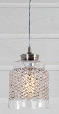 Metal Honeycomb Glass pendant - Shades of Light