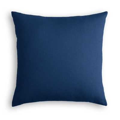 "Classic Linen Pillow, Navy Blue, 18"" x 18"" - Havenly Essentials"