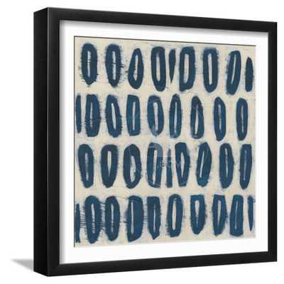 "Indigo Signals IV, Framed Art Print, Final Size: 15""x15"" - art.com"