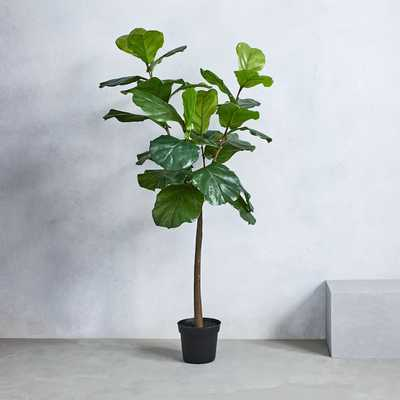 Faux Fiddle Leaf Fig Plant / 5' tall - West Elm