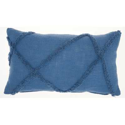 Remi Cotton Abstract Lumbar Pillow - insert included - Wayfair