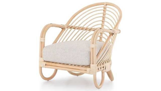 Etta Natural Rattan Chair - Crate and Barrel