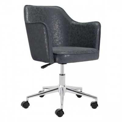 Keen Office Chair Vintage Black - Zuri Studios