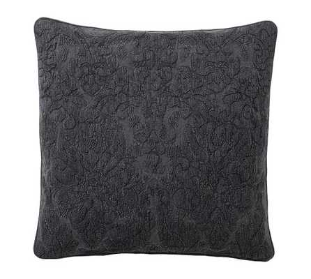 AKIRA EMBROIDERED PILLOW COVER, Charcoal - Pottery Barn