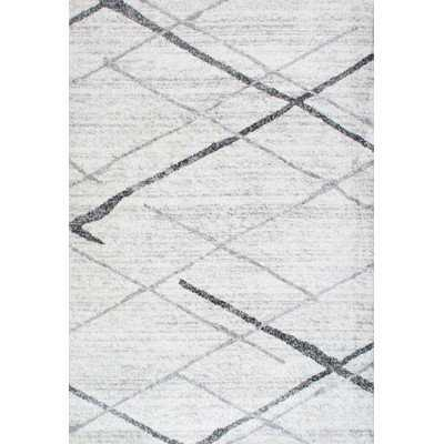 Azha Broken Light Gray Area Rug - 9x12 - Wayfair