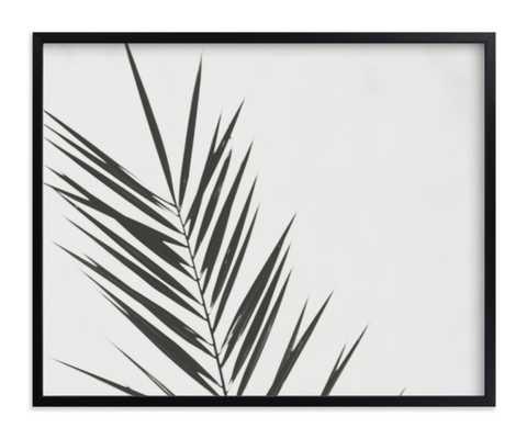 "Two // // Charcoal // Rich Black Wood Frame - Standard Border & Matting // 20x16"" - Minted"