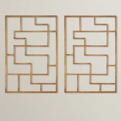 Quaid Gold Framed Wall Art (Set of 2) - Wayfair