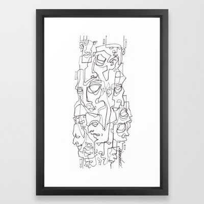 Everywhere I Look Framed Art Print - 15x21 - Vector Black - Society6