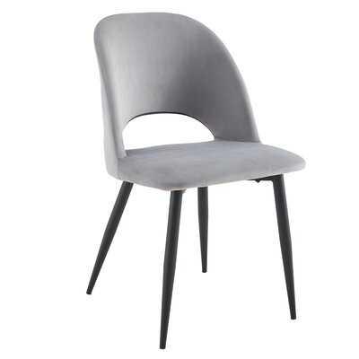 Velvet Upholstered Side Chair (Set of 2) - Wayfair