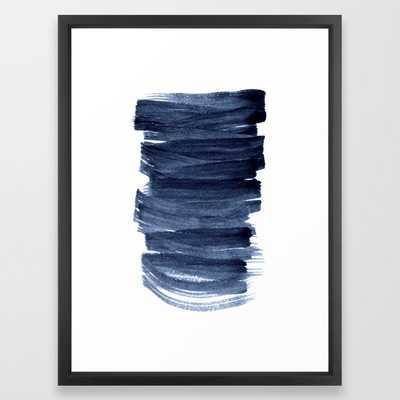 Just Indigo 3 | Minimalist Watercolor Abstract Framed Art Print - Society6
