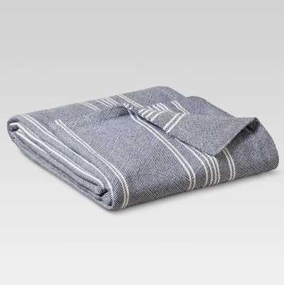 Yarn Dye Stripe Ringspun Cotton Bed Blanket - Threshold™ - Target