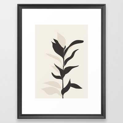 """Abstract Minimal Plant Framed Art Print // Scoop Black // Medium (gallery) - 20"""" X 26"""" - Society6"""