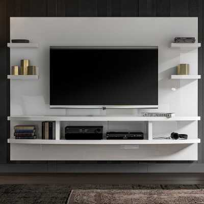 """White Gloss Stein Floating mount Entertainment Center for TVs up to 60"""" - Wayfair"""